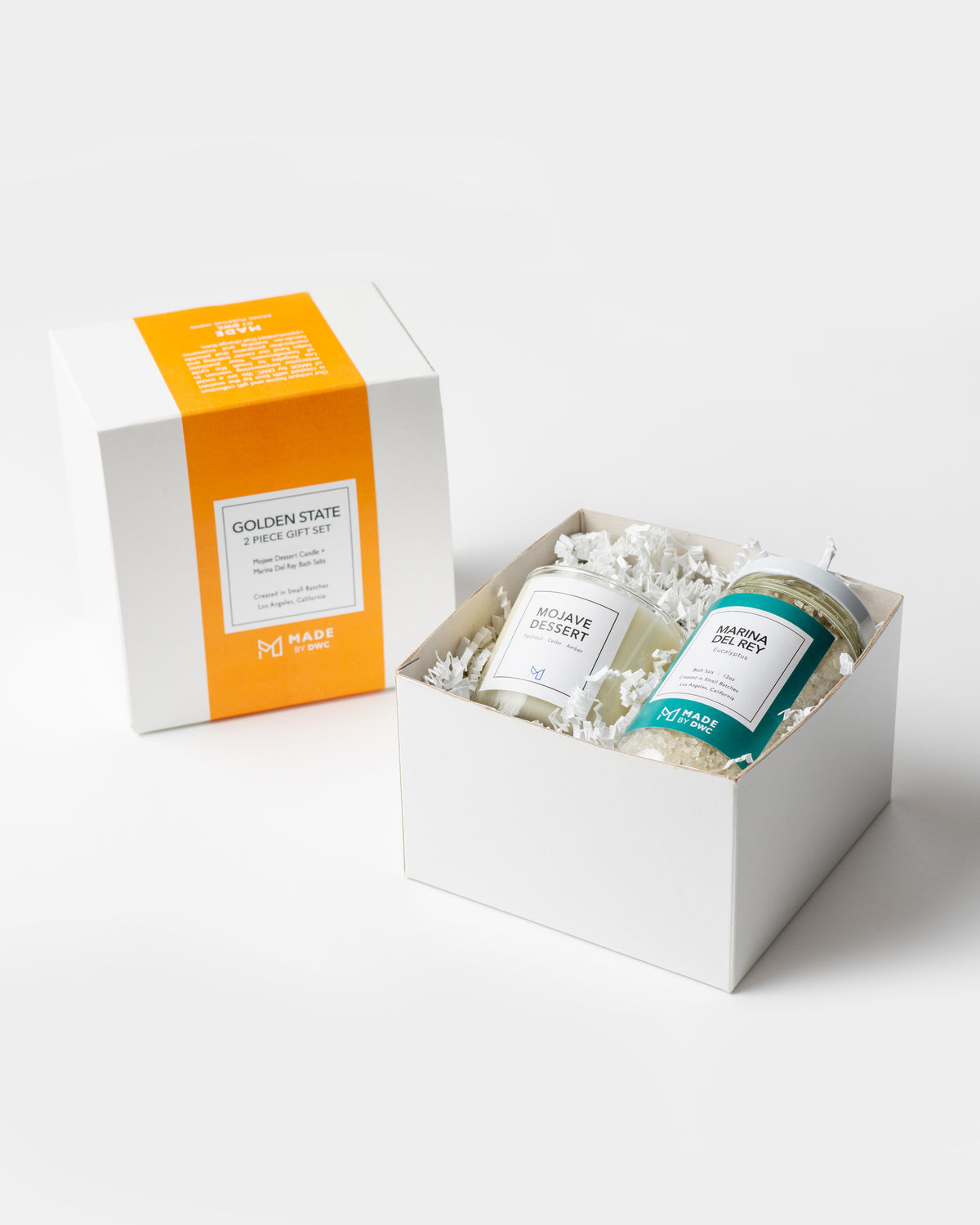 Corporate Gift - Golden State - Candle & Bath Salts Set