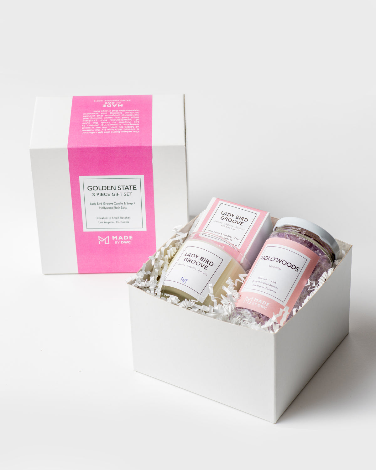 Golden State Gift Sets - Lady Bird Groove Candle & Soap & Bath Salts