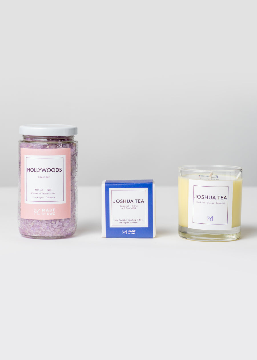 Golden State Candle, Soap + Bath Salt Gift Sets