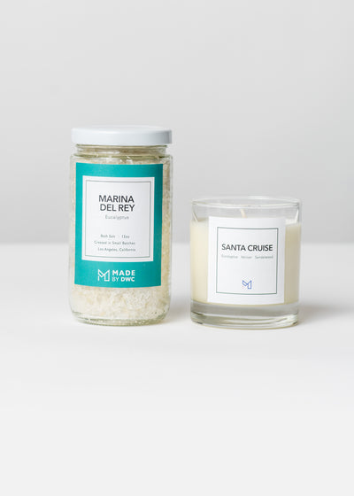 Golden State Gift Set - Santa Cruise Candle & Bath Salts