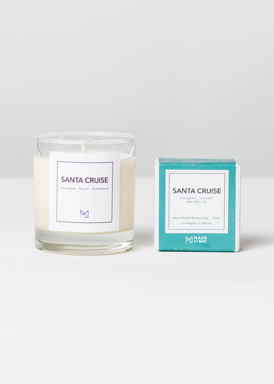 Golden State Gift Set - Santa Cruise Candle & Soap