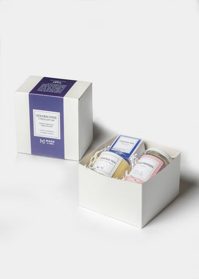 Corporate Gift - Golden State Gift Sets - Candle & Soap + Bath Salts