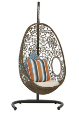 Hanging Egg Chair With A Stand