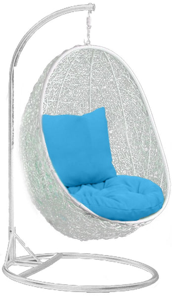 Pala - White Hanging Egg Chair - 4 Cushion Colours - 2