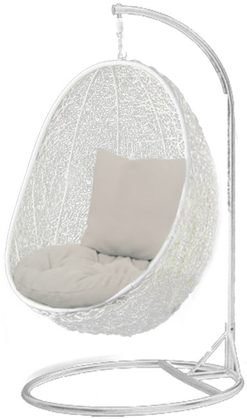 Pala - White Hanging Egg Chair - 4 Cushion Colours - 7