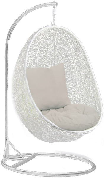 Pala - White Hanging Egg Chair - 4 Cushion Colours - 8