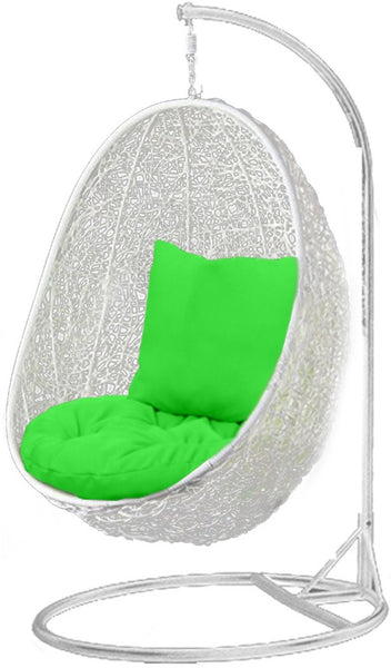 Pala - White Hanging Egg Chair - 4 Cushion Colours - 5