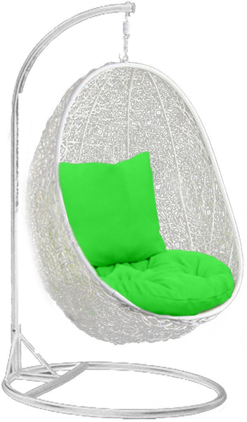 Pala - White Hanging Egg Chair - 4 Cushion Colours - 6