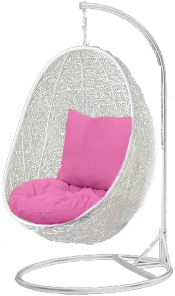 Pala   White Hanging Egg Chair   4 Cushion Colours   1