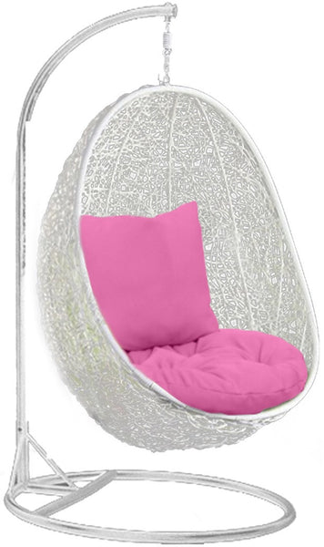 Lovely Pala   White Hanging Egg Chair   4 Cushion Colours   4