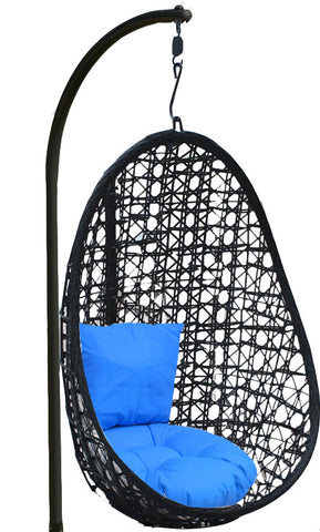 Pala - Black Hanging Egg Chair - 4 Cushion Colours - 1