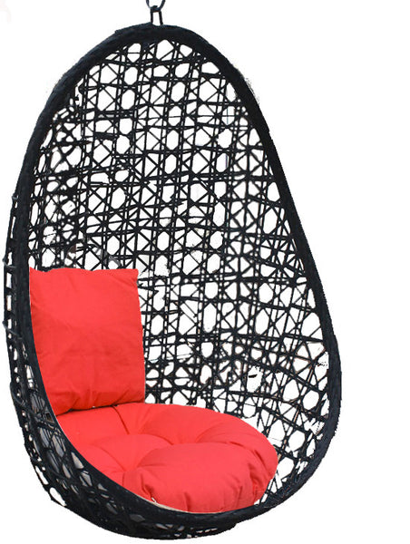 Pala - Black Hanging Egg Chair - 4 Cushion Colours - 3