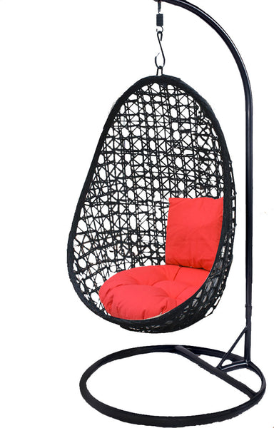Pala - Black Hanging Egg Chair - 4 Cushion Colours - 2