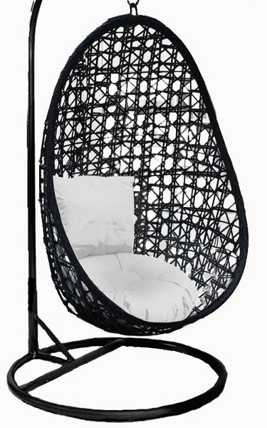 Pala - Black Hanging Egg Chair - 4 Cushion Colours - 5