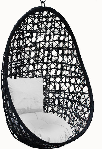 Pala - Black Hanging Egg Chair - 4 Cushion Colours - 4