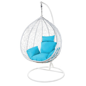 Rattan Hanging Ball Chair in White