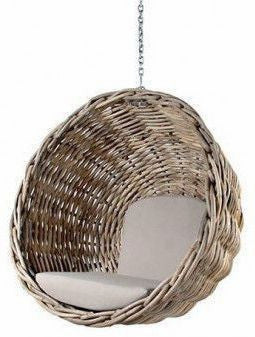 Ebba - Rattan Wicker Hanging Basket Chair - 3