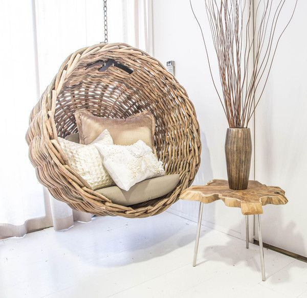 Ebba - Rattan Wicker Hanging Basket Chair - 4