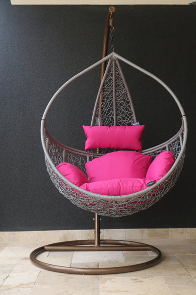 Claudia - Grey Hanging Egg Chair - 1