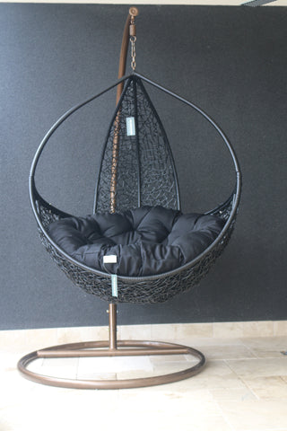 Sofia - Black Hanging Egg Chair - 1