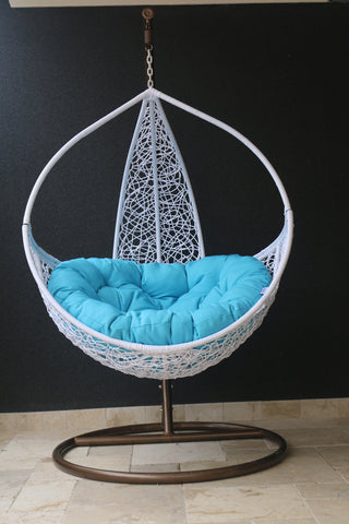 Kiera - White Hanging Egg Chair - 1