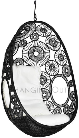 Hanging Egg Chair - Lina Series - Black, White, Natural - 1