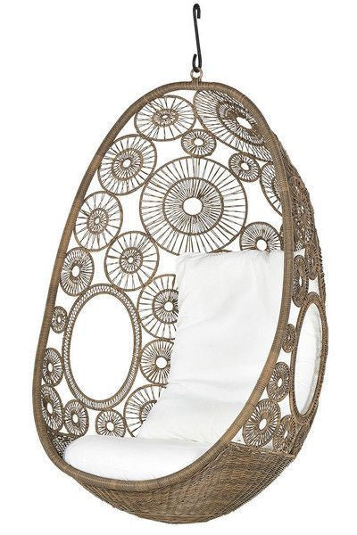 Lina - Natural Hanging Egg Chair - 2