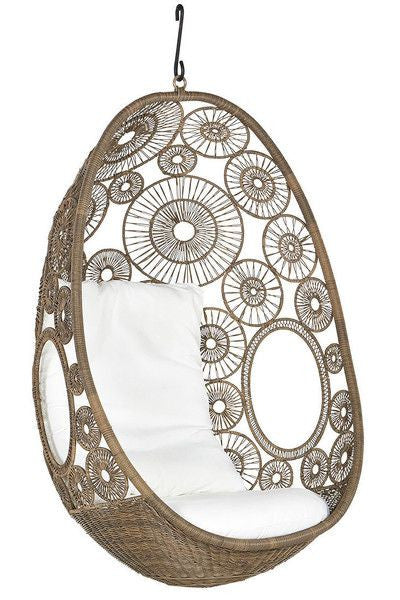 Lina - Natural Hanging Egg Chair - 1