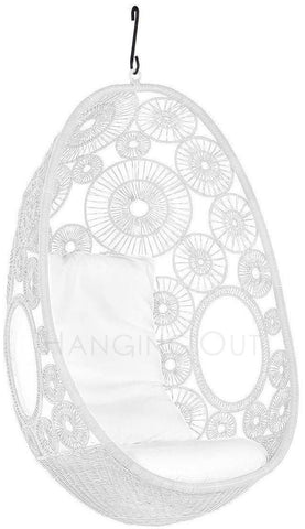 Lina - White Hanging Egg Chair - 1