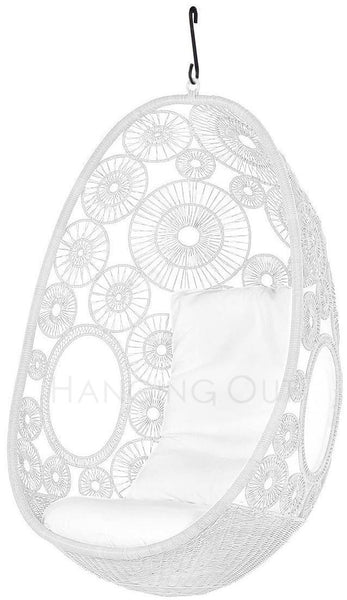 Lina - White Hanging Egg Chair - 2
