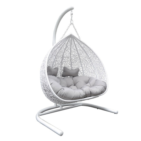 Image of Conrad White Double Hanging Outdoor Chair