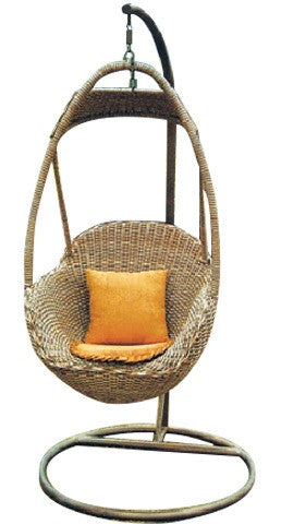 Zaire - Rattan Wicker Hanging Egg Chair - 2