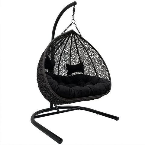 Conrad Black Double Hanging Outdoor Chair