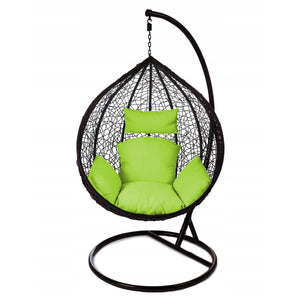 Rattan Hanging Ball Chair in Black