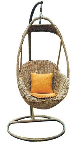 Zaire - Rattan Wicker Hanging Egg Chair - 1