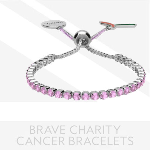 Brave Ribbon Cancer Charity Bracelets