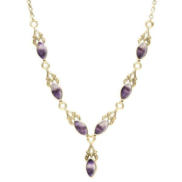 Heritage 7 Stone Marquise Drop Necklet