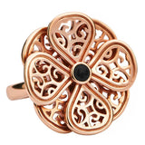 Rebecca Sellors Flore Filigree 8 Petal Double Layer Flower Ring