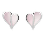 Heritage 2 Stone Split Heart Stud Earrings