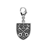 York Minster Cross Key and Yorkshire Rose Shield Lobster Clasp Charm