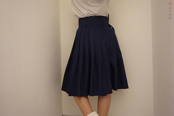 Basic Waist Skirt, Navy