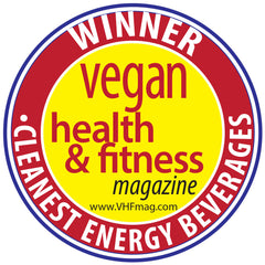 Winner: Cleanest Energy Beverage Award 2017, Vegan Health & Fitness Magazine