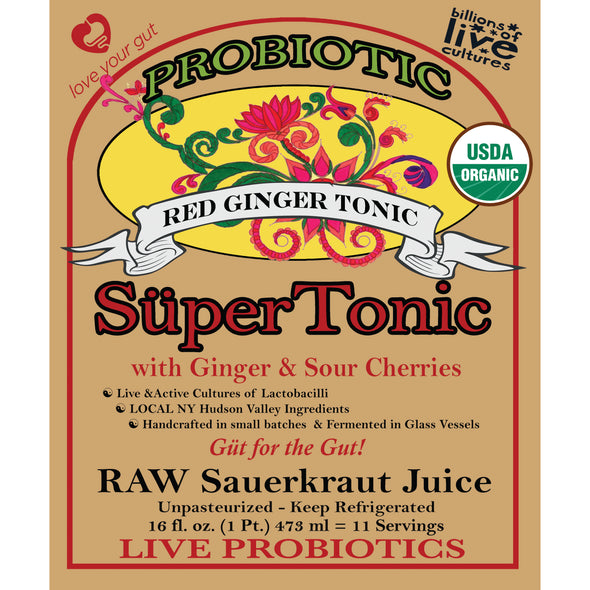 Red Ginger Tonic - 16oz (11 Servings)