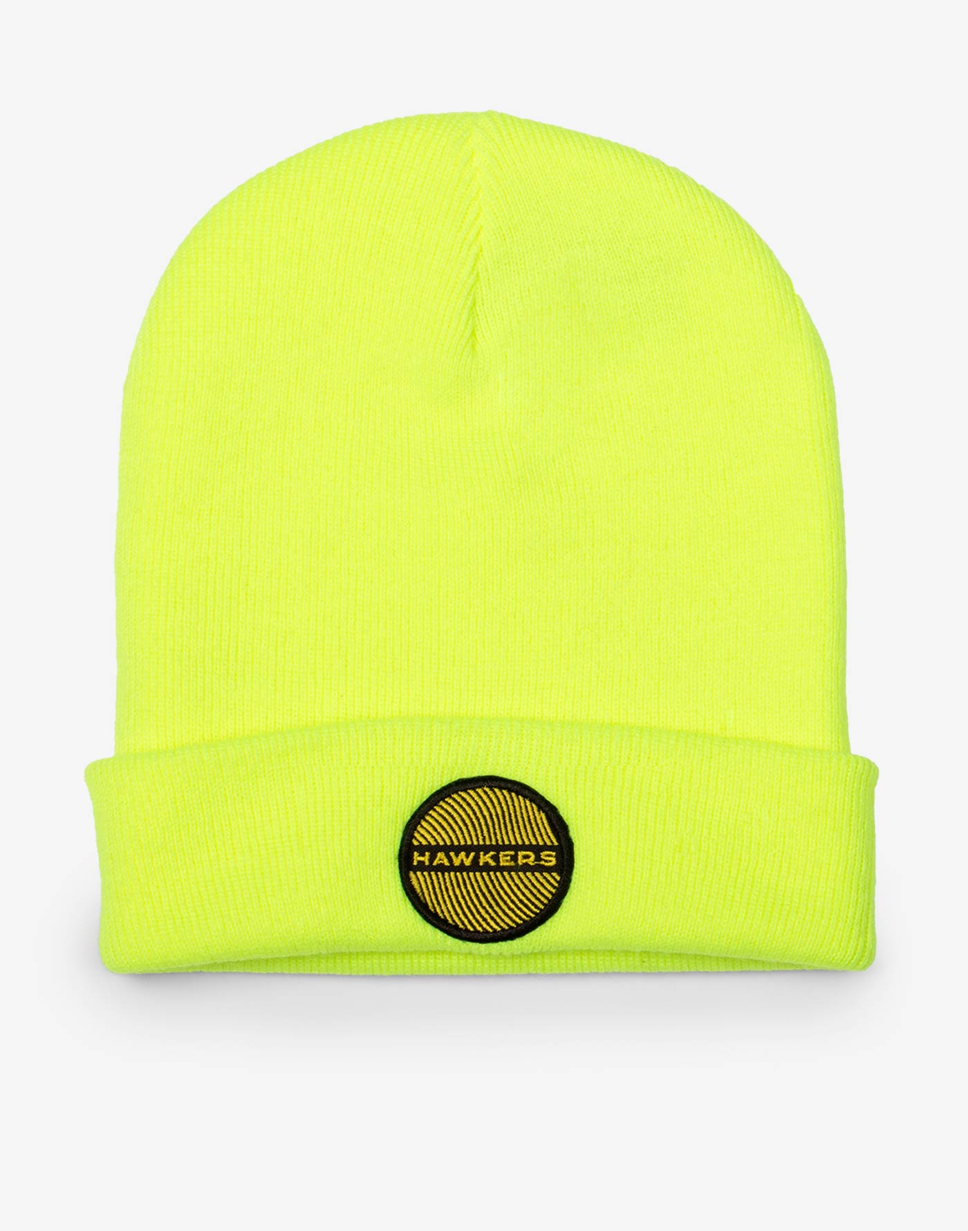 Neon Yellow Wool Beanie
