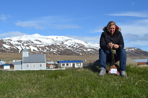 Taking time to knit in Iceland