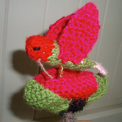 Crocheted hummingbird