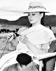 Audrey Hepburn was one of the stylish knitters