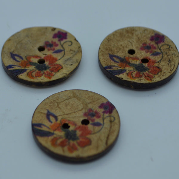 Coconut buttons - Autumn (20mm)