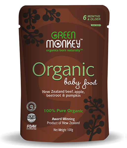 NZ Organic Baby Food Beef, Apple, Beetroot & Pumpkin - Not Available Online