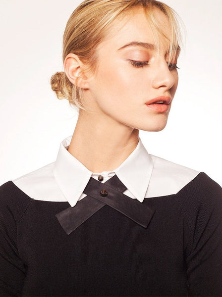 """Adi"" collar, styled with shirt"